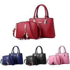 2pc Set Women Handbags Leather Shoulder Bags Totes Messenger Bag Satchel Purse