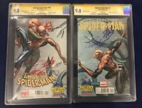 Amazing Spider-Man 700 & Superior Spider-Man 1 CGC 9.8 Signed-Stan Lee, Campbell