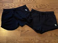 2 Pairs Of Abercrombie Kids Girls Black Sweat Shorts Size 15/16