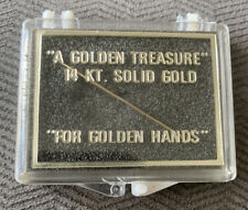 Vintage 14K Gold Sewing Needle In Box A Golden Treasure For Golden Hands