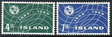 Iceland 1965 MNH 2v, U.I.T. International Telecommunication Union Centenary (n)