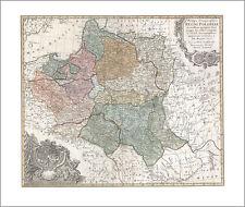 Mappa Geographica Regni Poloniae Warschau Mare Baltikum Ostsee Europakarten 19