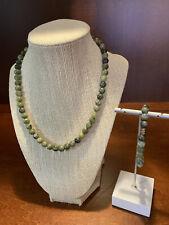 Necklace & Bracelet New 18� BeadsbyBev Genuine One Kind Nephrite Jade