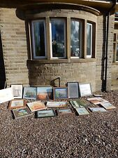 COUNTRY HOUSE BIG HOARD OF PAINTINGS ALL ORIGINAL SEE IMAGES AS ONE LOT BARGAIN