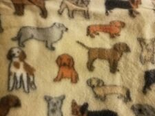 Pet dog fleece throw blanket dachshund french bulldog lab english springer