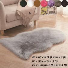 Soft Plain Fluffy Sheepskin Faux Fur Rugs Shaggy Area Carpet Room Mat Thick Wool