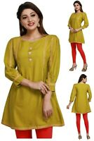Women Indian Kurti Tunic Cotton Kurta Shirt Dress EASHITA03C (WITHOUT LABEL)
