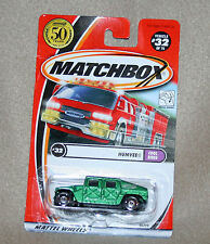 Matchbox Humvee #32  Cool Rides- 2001 - new in blister pack