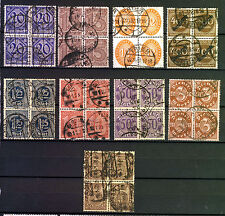 GERMANY 1920 to 1923 OFFICIALS Dienstmarke from SG O23 to SG O123 VFU