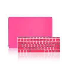 "2 IN 1 HOT PINK Matte Case for Macbook 12"" Retina Model A1534 + Keyboard Cover"