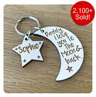 Personalised Fathers Day Gifts For Daddy Grandad Dad Mummy Nanny Keyring Gifts
