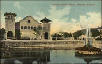 Phoenix AZ US Indian School Native Americana c1910 Postcard #2