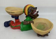"New listing Retro Handmade Jamaican Rasta Man Marijuana Pot Smoking Ashtray Bowls 8.5""x4"""