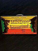 Collectible Vintage Mine xpol Intl Amer Mining Congress '92 Pinback Lapel Pin