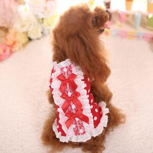 Teacup Small Dog Clothes Girl Bow Tie Shirts Size XSmall XXXS XXS for Yorkie Cat