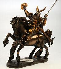 Odin auf Sleipnir v. Derek W Frost Sammelfigur ,bronziert Wodan Krieger Walhalla