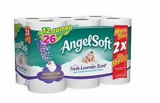 Angel Soft Toilet Paper with Fresh Lavender Scent, 12 Jumbo Rolls, Bath Tissue