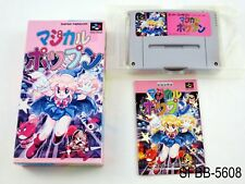 Complete Magical Pop'n Super Famicom Japanese Import CIB SFC Rare US Seller B