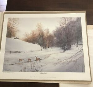 """Michael Sloan Limited Edition Signed Print  """"Winterland"""" 093/950"""