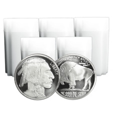 Lot of 100 - 1 Troy oz Buffalo .999 Fine Silver Round 5 Full Rolls