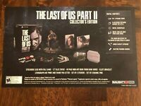 THE LAST OF US PART 2 PS4 PROMOTIONAL NAUGHTY DOG 9'' X 6'' CARD+FREE SHIPPING🔥