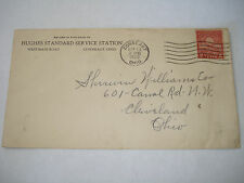 CONNEAUT OH Hughes STANDARD Service Station gas oil 1929 COVER SHERWIN WILLIAMS