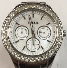 Fossil ES 2860 Stella Women's Silver Steel Bracelet with DIAMOND BEZEL ES2860