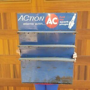 AC spark plugs original vintage advertising Sign shop Display