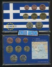 Greece. Greek Euro Coins UNC 2007 in BOX, Compl. set of 8 values (1c to 2 euros)