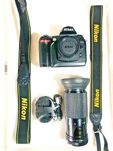 Nikon D70S 6.1 MP Digital SLR Camera bundle. Pls read