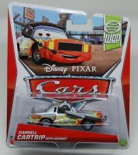 Disney Pixar Cars DARRELL CARTRIP WITH HEADSET 1:55 New 2013