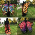 Beauty Lady Women Colorful Long Butterfly Wing Cape Dress Soft Scarf  Wrap Shawl