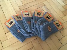 Women Naturel Turkish Wool Gray Warmly Hiking Winter Socks 6 Pairs Pack New