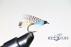 ICE FLIES. Wet flies. Teal and blue. Pick a size (4-pack)