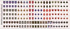 1/18 Scale Decals: US Marine Corps USMC Unit Patches - Waterslide Decals
