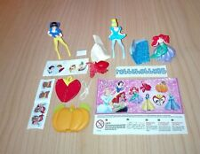 SERIE COMPLETA DISNEY PRINCESS SE569 - SE575 + 6 BPZ KINDER JOY INDIA 2017/2018