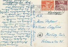 1951 Switzerland/Helvetia card sent from Lausanne to Marburg/Lehn Germany