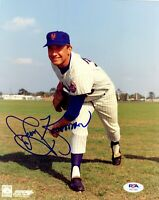Jerry Koosman autographed signed MLB New York Mets 8x10 photo PSA COA