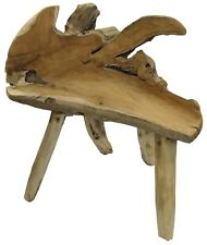 Solid Teak Root Wood Seat Bench Handmade Unique Design Home Decor Seating