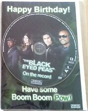 The Black Eyed Peas - On the Record - Happy Birthday Card + DVD - Brand New