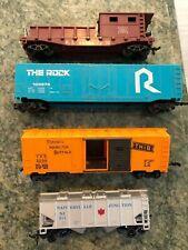 Lot (4) HO Vintage Cars Rock Island,  The Rock,  Napierville Junction,  TH & B
