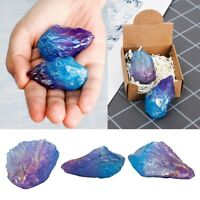 Natural Raw Fluorite Quartz Geode Crystal Cluster Healing Stone Specimen Decor