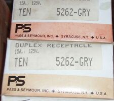 (C) P&S 5262-GRY Duplex Receptacle 15A 125V (QTY10)