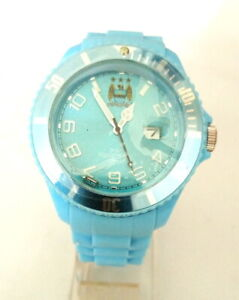 GENTS ALL BLUE MANCHESTER CITY WATCH WITH ALL BLUE SILICONE STRAP