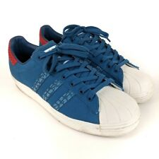 new style 550ce 8d112 Adidas Men s Superstar 80s Animal Oddity Blue Shoes Size 10.5
