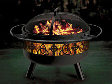 Celtic Irish Themed Outdoor Firepit/Grill Combination