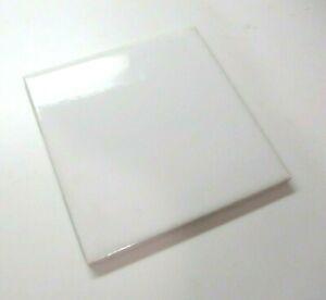 "US Ceramic USA 724764 066002 Gloss 4-1/4"" Square Snow White 1 Wall Tile Vintage"