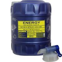 20 Liter MANNOL Motoröl Energy 5W-30 API SL/CF Engine Oil Öl inkl. Auslaufhahn