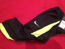 Boys Nike Black Neon Stripe Thermal Althletic Sweat Pants $38 NWT 2T
