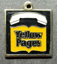 VINTAGE TELEPHONE YELLOW PAGES EMPLOYEE KEY FOB